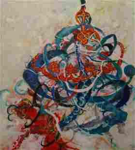 Mansourkhani Roya, Sama Dance, 2015, oil on canvas,