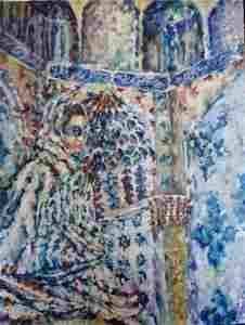 Roya Mansourkhani, Women Behind Shadows II, 4' x 3',
