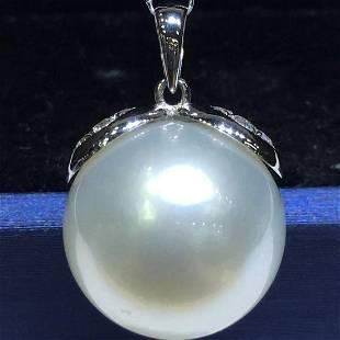 18 kt. White Gold - 14x15mm Round Australia Pearls