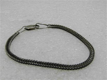 """Vintage Sterling Foxtail Link Bracelet, 7-7/8"""", 3.7mm"""
