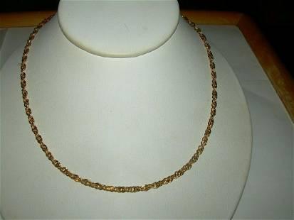 Vintage Milor Gold Over Sterling Double Link Chain -