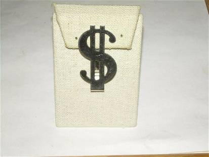 Admark Sterling Silver Money Clip - $ Sign; 1940's -