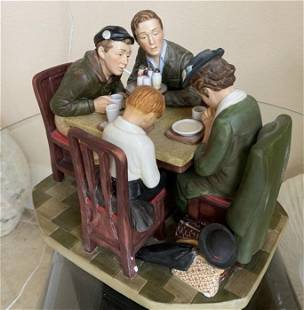 Authentic Norman Rockwell, Saying Grace, Porcelain