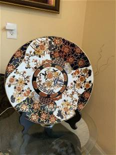 Decorative Asian Hand Painted Porcelain Chinese Plate ,