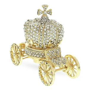 Faberge Carriage decorative Crystal statuette figurine