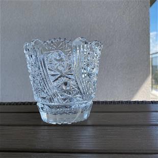 Vintage Bohemian crystal 24% PbO
