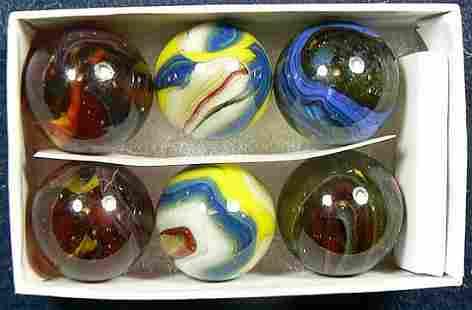DAS Jabo Set of 6 Marbles glass spheres art peltier
