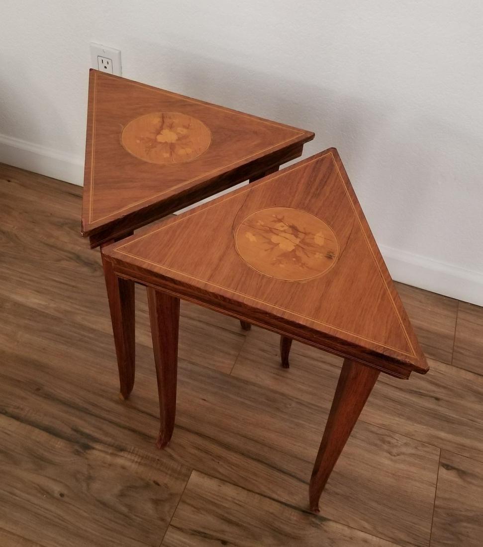 Italian Marquetry Table - A Pair
