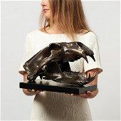 Sooka Interior - Polar Bear skull in finest bronze -