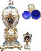 Faberge Egg Danish Jubilee Decorative Casket Blue Box