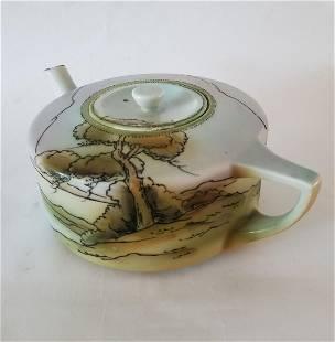 Nippon Landscappe Nippon Art Deco Teapot 1910