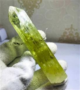Natural D-T Triphane Kunzite Crystal V-shape Facet
