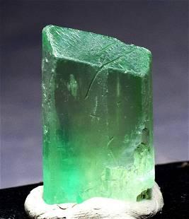 Green Kunzite Hiddenite V Shape Double Terminated