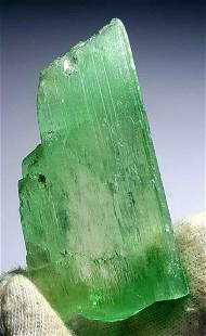 Lush Green Kunzite Hiddenite Crystal from Afghanista?n