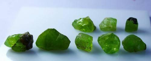 Natural Green Peridot Rough Lot