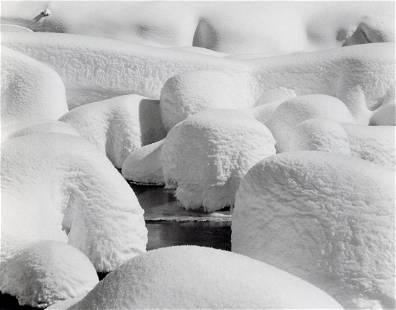 ANSEL ADAMS - Snow Hummocks, Yosemite, 1949