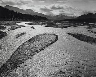 ANSEL ADAMS - Teklanika River, Denali, 1947