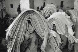 MARC RIBOUD - Children Work In Hide Market, Morocco