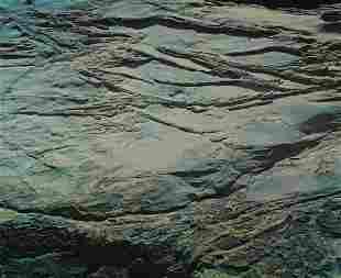 EDWARD WESTON - Rock erosion, Point Lobos