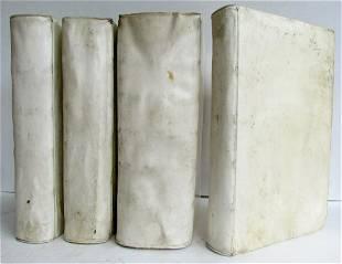 1734 4 VOLUMES LAW BOOKS VELLUM FOLIO CONSULTATIONUM ET