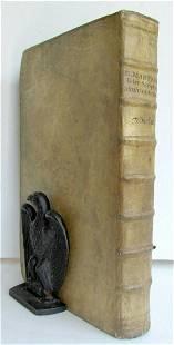 1733 VETERUM SCRIPTORUM ET MONUMENTORUM VELLUM BINDING