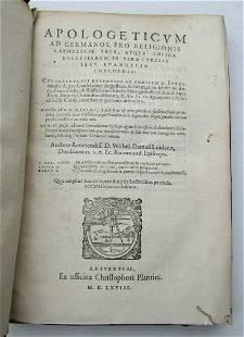 1568 PLANTIN PRESS Apologeticum ad Germanos VELLUM