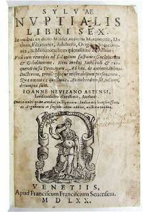 1570 2 VOLUMES CANON LAW ANTIQUE NEVIZANO ASTENSII,
