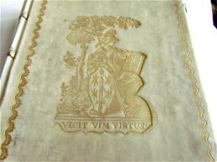 1744 VELLUM SCHOOLPRIZE BINDING Epitome of Roman
