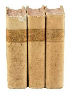 3 VELLUM BOUND 1745 ANTIQUE VOLUMES HISTORY OF TRENT