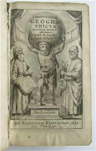 1643 ELZEVIR GEOGRAPHY A.Gollnitz antique VELLUM