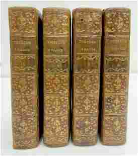 1784 4 volumes antique illustrated LIFE & OPINIONS of