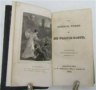 1824 Poetical Works of Sir Walter Scott antique
