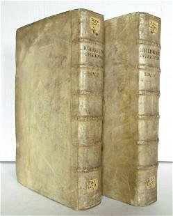 1686 2 volumes BIBLE HISTORY by Lightfoot VELLUM BOUND