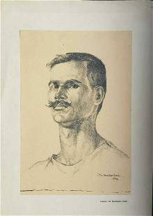 Rare charcoal Drawing on Paper by artist shibshankar