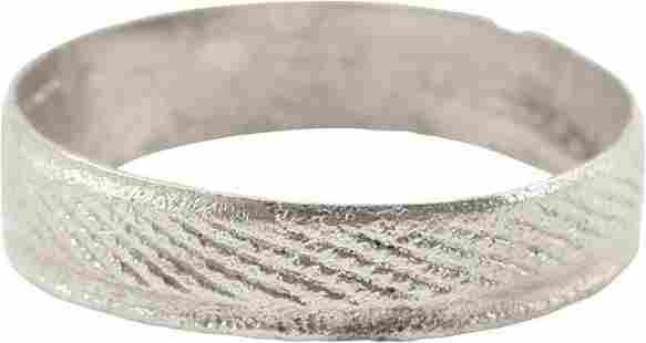 FINE VIKING WEDDING RING, 900-1050 AD SZ 9 ¾