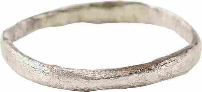 VIKING WOMAN'S WEDDING RING, 850-1050 AD SZ 8 3/4