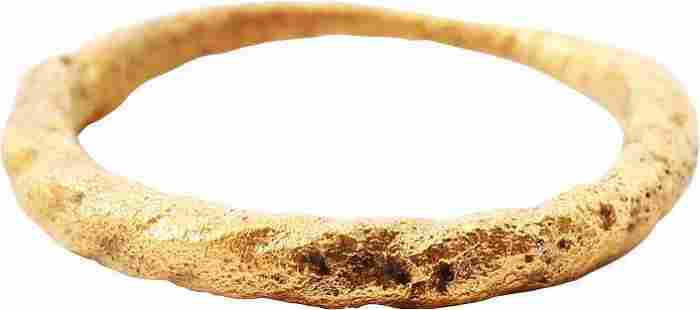 GOOD VIKING TWISTED RING 9th CENTURY AD, SZ 7 1/4