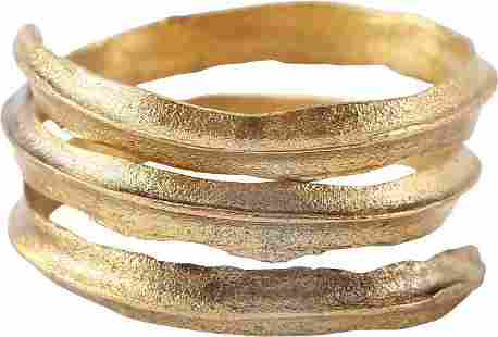 ANCIENT VIKING COIL RING, 9TH-10TH CENTURY, SIZE 9 3/4
