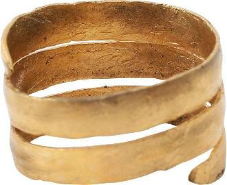 ANCIENT VIKING COIL RING C.850-1050 AD SIZE 11 1/4