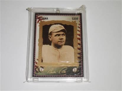 1994 GUYANA BABE RUTH STAMP CARDS $350 #2 YANKEES