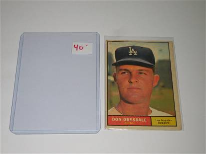 1961 TOPPS #260 DON DRYSDALE DODGERS CARD