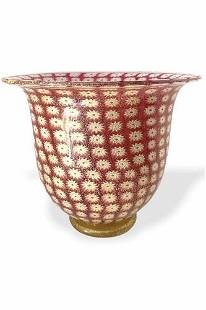 Amedeo Rossetto - Murano glass cup murrine with gold