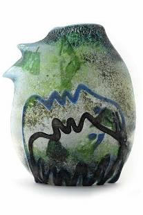 "Ermanno Nason - Rare Murano glass Vase scavo "" Profili"