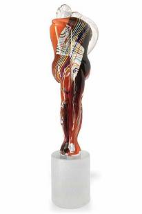 Eugenio Ferro - Top Murano glass Amanti sculpture