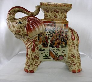 Spectacular Elephant with Trunk in Salute Plant Stand