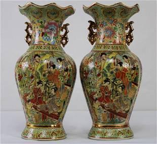 (2) Chinese antique Jingdezhen Porcelain Vase