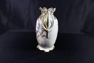 Nippon Noritake Hand Painted Floral Vase