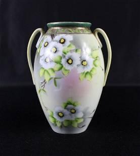 Nippon Foral (2) Handled Vase