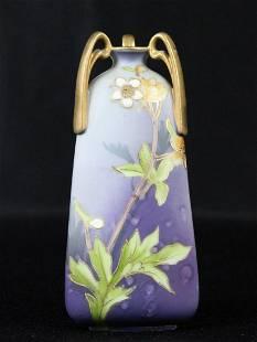 Nippon Foral Purple (3) Handled Vase