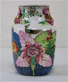 Chinese Porcelain Vase Hand Painted - White background